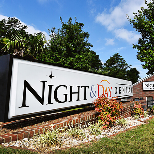 Giant Night & Day Dental sign